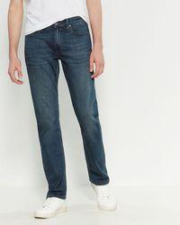 PAIGE Daniels Transcend Normandie Slim Straight Jeans - Blue