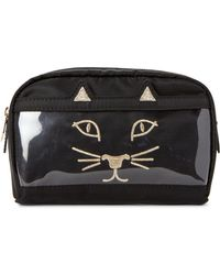Charlotte Olympia - Black Purrrfect Cosmetic Bag - Lyst