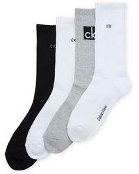 Calvin Klein 4-pack Logo Crew Socks - Black