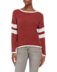 Pink Rose - Elbow Striped Hacci Sweater - Lyst