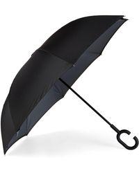 Shedrain Unbelievabrella Reversible Stick Umbrella - Black