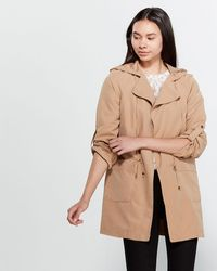 Love Tree Oversized Hooded Trench - Brown