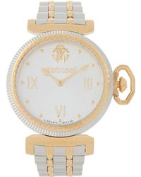 6c9bd06936d0a Roberto Cavalli Rv1l056m0266 Two-tone Round Watch - Metallic
