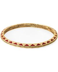 House of Harlow 1960 | Gold-tone Enamel Bangle | Lyst