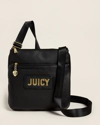 Juicy Couture Black Blank Check Large Crossbody