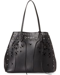 ab96bbe39f8c22 Moda Luxe - Black Chanel Perforated Bag-in-bag Tote - Lyst