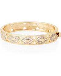 Vince Camuto - Gold-tone Hinge Bracelet - Lyst