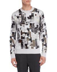 Jil Sander - Printed Wool Sweater - Lyst
