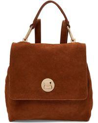 Moda Luxe Antoinette Suede Backpack - Brown
