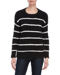 Workshop - Fuzzy Striped Crew Neck Sweater - Lyst