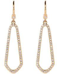 Ivanka Trump - Gold-tone Crystal Open Earrings - Lyst