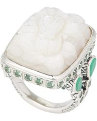 Stephen Dweck - Sterling Silver & White Mother-of-pearl Ring Size 7 - Lyst