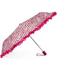 Betsey Johnson - Rose Stripe Auto Open Umbrella - Lyst