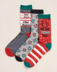 Jessica Simpson 3-pack Resting Grinch Face Crew Socks - Multicolor