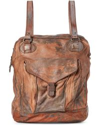 Giorgio Brato - Sand Distressed Leather Backpack - Lyst
