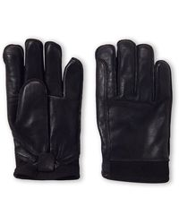 UGG Black Tech Leather Gloves