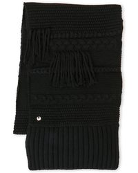 UGG - Cable Knit Fringe Scarf - Lyst