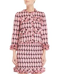 Boutique Moschino - Pink Tweed Jacket - Lyst