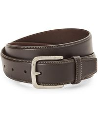 Cole Haan - Contrast Stitch Leather Belt - Lyst