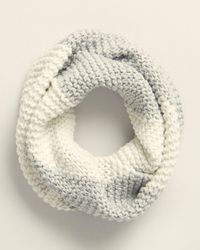 UGG Two-color Knit Infinity Scarf - Natural