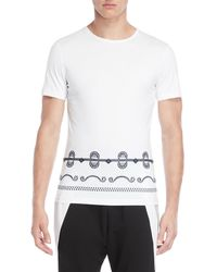 Antony Morato - White Contrast Embroidery Tee - Lyst