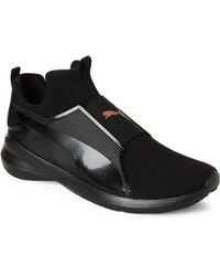 b7711c7c439e Lyst - Puma Rebel Mid Metallic Slip-on Training Shoe in White for Men