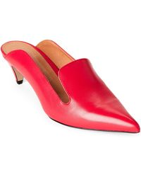 INTENTIONALLY ______ - Red Pensive Leather Pointed Toe Mules - Lyst