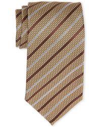 Tom Ford - Gold & White Stripe Silk Tie - Lyst