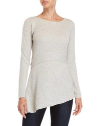 In Cashmere - Asymmetrical Tie-back Cashmere Sweater - Lyst