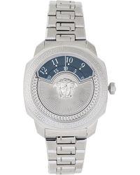 Versace   Vqu030015 Silver-tone Watch   Lyst