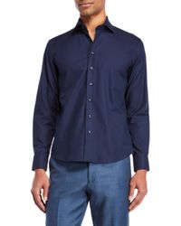 Tocco Toscano - Check Jacquard Sport Shirt - Lyst