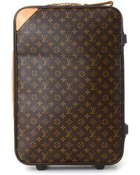 c52289b1789c Lyst - Louis Vuitton Pre Owned- Monogram Canvas Leather Speedy 40 Cm ...