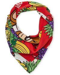 Moschino - Silk Printed Scarf - Lyst