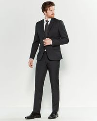 Roberto Cavalli Black & Gray Mini Check Slim Fit Suit