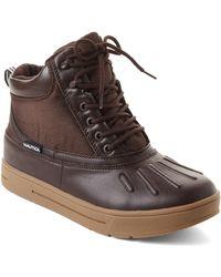 Nautica - Dark Brown New Bedford Duck Boots - Lyst