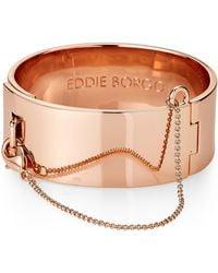 Eddie Borgo - Rose Gold-tone Safety Chain Cuff Bracelet - Lyst