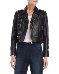 Walter Baker - Annarae Leather Lace-up Moto Jacket - Lyst