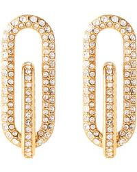 Michael Kors - Gold-tone Pave Link Earrings - Lyst