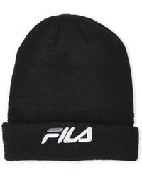 Fila - Embroidered Logo Beanie - Lyst