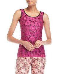 Dolce & Gabbana - Fuchsia Lace Sleeveless Top - Lyst