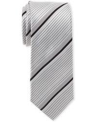 Kenneth Cole Reaction - Wide Stripe Silk Tie - Lyst