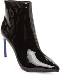 BCBGeneration - Black Helen Faux Patent Ankle Booties - Lyst