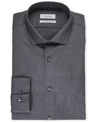 Calvin Klein - Charcoal Extreme Slim Fit Solid Dress Shirt - Lyst