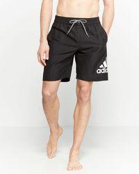 af37d35562 adidas Black Jumpshot Swim Shorts in Black for Men - Lyst