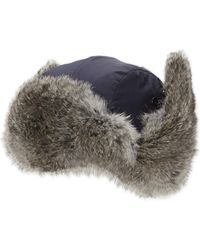 f00b18722aa74 Annabelle New York Fox Fur Lined Trapper Hat: Black in Black - Lyst