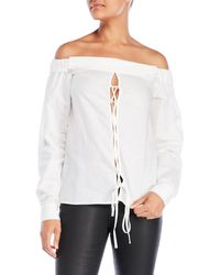 La Maison Talulah - Olivia Off-The-Shoulder Top - Lyst