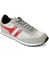 Gola Light Gray & Red Flyer Low-top Sneakers
