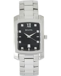 Bulova - 96D125 Silver-Tone Watch - Lyst
