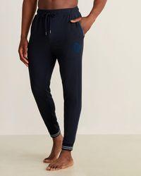 Ted Baker Striped Rib Sweatpants - Blue
