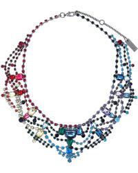 Steve Madden - Hematite-tone & Multicolor Necklace - Lyst
